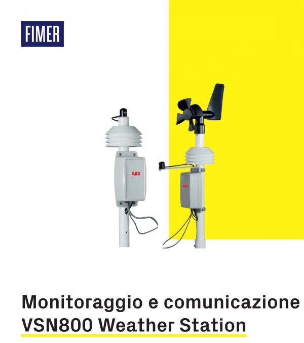 Sistema di monitoraggio ABB VSN800 Weather Station
