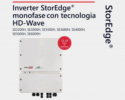 Inverter monofase StorEdge con tecnologia HD-Wave